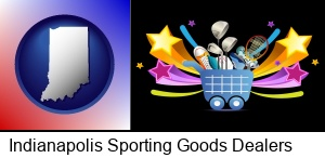 Indianapolis, Indiana - a sporting goods shopping cart